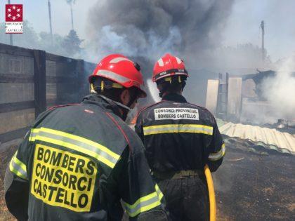 Incendi forestal a Almassora