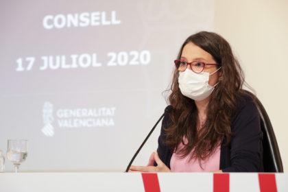 """Oltra: """"La mascareta és la nostra única vacuna contra la COVID-19, per la qual cosa caldria posar de moda novament l'eslògan 'posa-te-la, posa-la-hi'"""""""