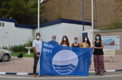 Les banderes blaves i la Q de qualitat ja onegen a les platges i el port esportiu d'Orpesa