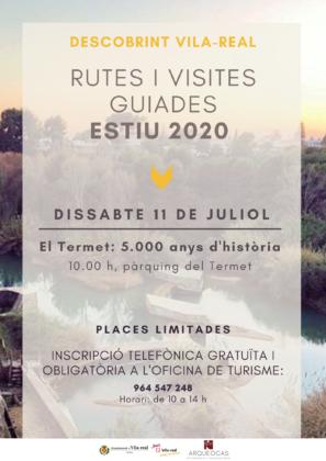 Vila-real reprén este cap de setmana les visites guiades gratuïtes amb un recorregut pel Termet i els seus 5.000 anys d'història
