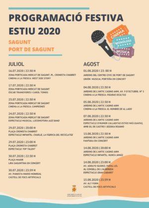 La programació Estiu 2020 del Port de Sagunt s'acomiada amb un espectacle infantil, un cabaret i un castell de focs artificials