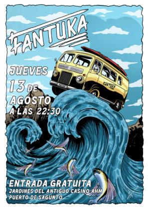El grup local Fantuka oferirà un concert d'estil funk i disco dijous 13 d'agost a Sagunt