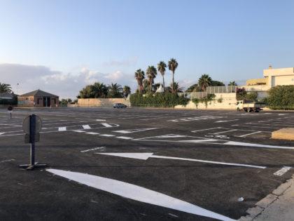 Finalitzen les obres d'asfaltat i senyalització de l'aparcament de la platja del Port de Sagunt