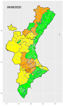 Sanitat manté l'alerta sanitària per calor alta en 7 comarques la Comunitat Valenciana