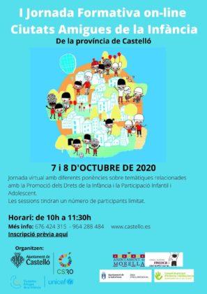 Castelló organitza al costat d'Unicef les I Jornades Formatives sobre Ciutats Amigues de la Infància