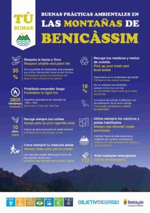 Les bones pràctiques ambientals a la muntanya centren la campanya 'Tu Sumes' de Benicàssim