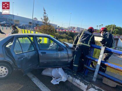 Xoc frontal d'un vehicle a Vila-real