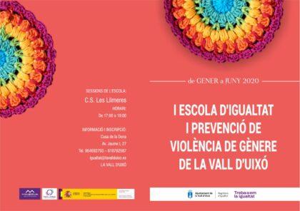 L'Ajuntament de la Vall d'Uixó presenta la I Escola d'Igualtat i Prevenció de la Violència de Gènere