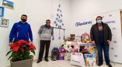El PP d'Onda realitza una recollida solidària d'aliments, productes d'higiene i joguines