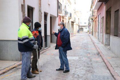 Aigües de Sagunt invertix 250.000 € en renovar les xarxes de sanejament i d'aigua potable del carrer Mestre Palanca