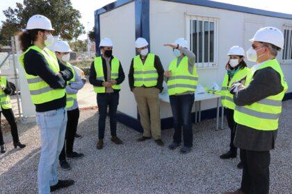 L'alcalde i membres de l'Equip de Govern de Sagunt visiten les obres de l'IES nº 5