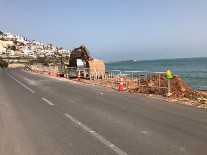 Comencen les obres de reconstrucció en el vial litoral sud de Peníscola