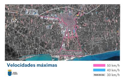 Borriana permetrà la velocitat màxima de 50 km/h en 18 vials del municipi