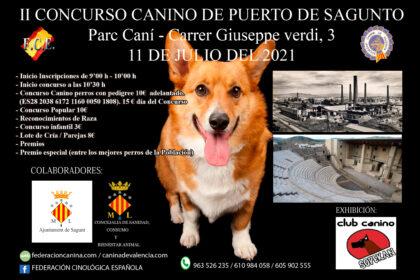 Diumenge que ve se celebrarà el II Concurs Caní de Port de Sagunt