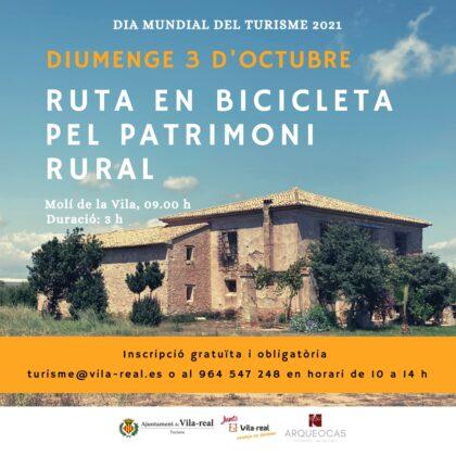Vila-real commemora el Dia Mundial del Turisme amb una ruta en bicicleta pel patrimoni rural